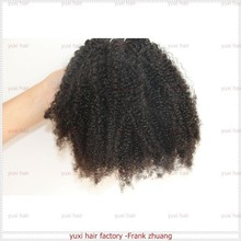 Top 100% virgin Mongolian /Brazilian /indian soft afro kinky curly human hair extensions /wave /weft