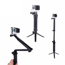 2015 Newest action camera accessories 3 way monopode for gopro accessories