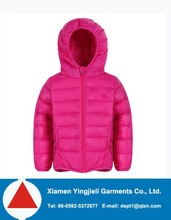 2015 Winter quilt padding boys fancy jacket 100% polyester detachable hood