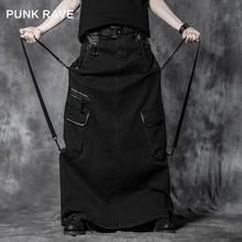Q-222 Personality Punk Rave Fashionable Long Mens Skirt