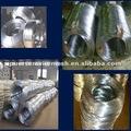electro galvanizado alambre de acero de la fábrica