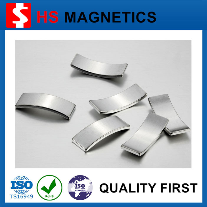 Various sizes strong ni coated ndfeb arc magnetic materials for generator