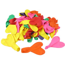 Wedding Party Decorative Colorful Heart Shape Latex Balloons