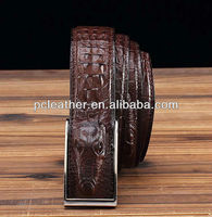 brown faux crocodile strap leather
