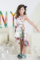 cotton flower printed kids beautiful model dresses
