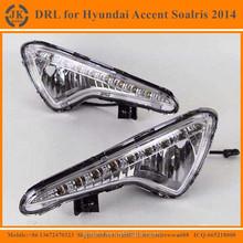 High Power LED DRL Fog Light for Hyundai Accent Excellent Quality LED Daylight for Hyundai Accent Soalris 2014'