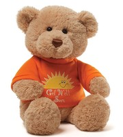 wholesale big stuffed animal brown super soft toy plush teddy bear with T shirt print
