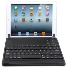 hot seller ABS chocolate key cap bluetooth keyboard with swivel holder for Ipad 5 or air