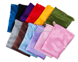 Custom Satin Drawstring pouch with diffirent size and colors