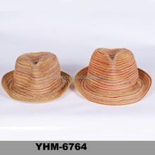 2015 unique summer boho beach fedora hat for men's fashion design wholesale