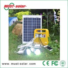 <Must Solar> Best Service Solar Electricity Generating System For Home With Mobile Phone Charger 10W Stand Alone Solar Kit