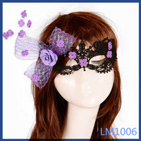 2016 thailand jewellery purple flower bowknot party gifts wholesale masquerade eye mask