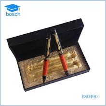 Beautiful design pen and diary set metal calligraphy pen set