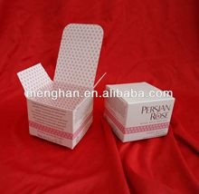 Cosmetic Box with Logo embossed and UV Spot