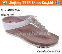 2015 latest women fashion wedge sandals wooden sole shoes sandals
