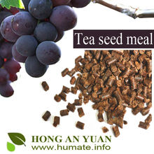 China Supplier Tea Seed Meal with or without Straw for Aquaculture Organic Fertilizer / Worm-controlling on Golf Courses