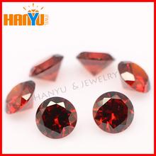 Wuzhou cubic zirconia round AAA garnet gemstone