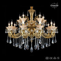 2014 new modern gold cast aluminum chandeliers for Germany ETL84226