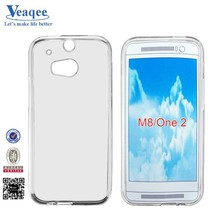 Veaqee Alibaba gold supplier transparent soft tpu case for htc m8