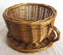 willow wicker gift basket, fruit basket, cup shape basket