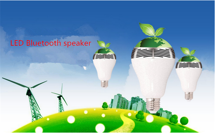 wireless 2015 New LED Bulbs Speakers 4W RGB Smart Colorful LED Bluetooth Speaker light Smart led bulb with bluetooth speaker