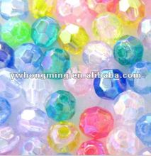 2012 Most Fashion Acrylic/Acryl beads 12MM!!Faceted Acrylic ball beads!!
