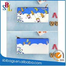 2015 print pencil case for child &pu pen bag for gift & color pu coin bag