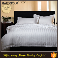 Pure White 100% Cotton Fabric Quilt Sets Comforter Set Duvet Cover for Hotel