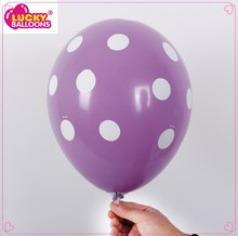 Wholesale big polka dots Decorator latex balloon,Themed latex balloon