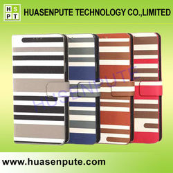Mixing Stripe Wallet Cases Cell Phone For Samsung Galaxy Note 4