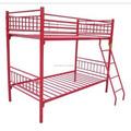 Beliche metal vermelho, ferro forjado cama de casal