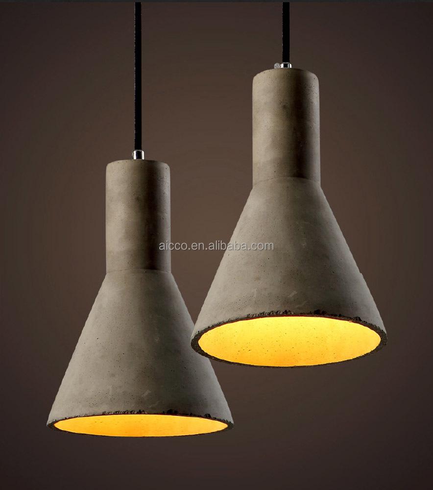 concrete pendant light industrial vintage pendant light
