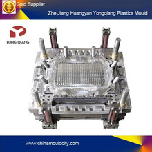 Cheap plastic injection molding of plastic crate mould from taizhou mould