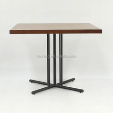 Modern wooden dining table legs wrought iron TA-214