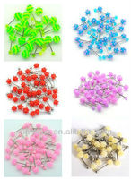 Steel soft silicone ball Tongue barbell piercing Rings body piercing tongue ring