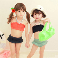 HFR-TN46 2015 new baby girls split swimsuit wrapped chest Bikini hot springs bathing suit
