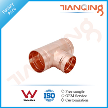 T102 Factory price pipe fitting grooved copper reducing tee