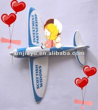 Ejected Airplane,EVA promotion toy,sport game toy,EVA diy glider,air sailer,glider plane,gliding aircraft, sail plane puzzle