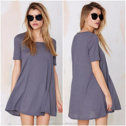One piece women dress online shopping for wholesale women clothes simple casual dress