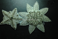 star and flower shape rhinestone appliques beaded for bag or garment decoration