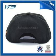 Oem Plain Short Brim Snapback Hat Men Leather Cap