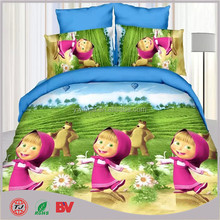 bedding set with masha and bear/ king size home goods 3d bedspread