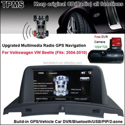 Upgrated Multimedia Radio system with Tire Pressure Monitoring Car DVD GPS for Volkswagen VW Beetle