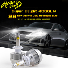 AKD Car Styling LED Headlight Bulb 2S LED Bulb High Power LED Bulbs H1 H4 H7 H8 H11 H13 9004 9005 9007