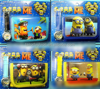 TF-G03150803087 2015 hot sell minion /despicable me watch and purse set