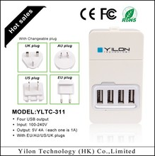 mini CE ROHS universal travel adapter with usb charger