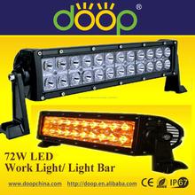 18w~300w 6000k IP67 de aluminio fundido a presión 4x4, SUV, ATV barra de luz LED llevó gráfico de barras 72w