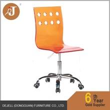 Acrylic Seat Chromed base Swivel Office chairs