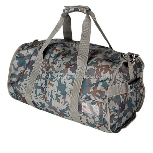 Polyester personnalisé imperméable marque sacs de voyage avec camouflage