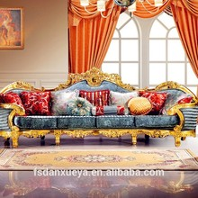 danxueya-Luxury European Baroque Style Luxury living room sofa set/french royal palace wood carved sofa furniture